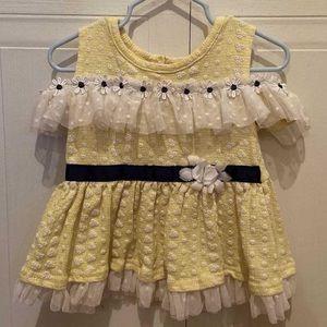 Yellow frill dress from little lass